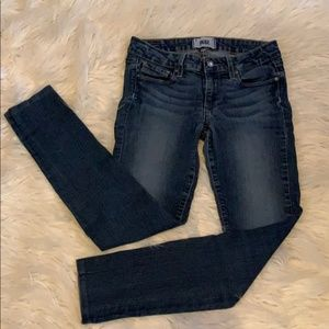 Paige Peg Skinny Jeans size 25 made in USA
